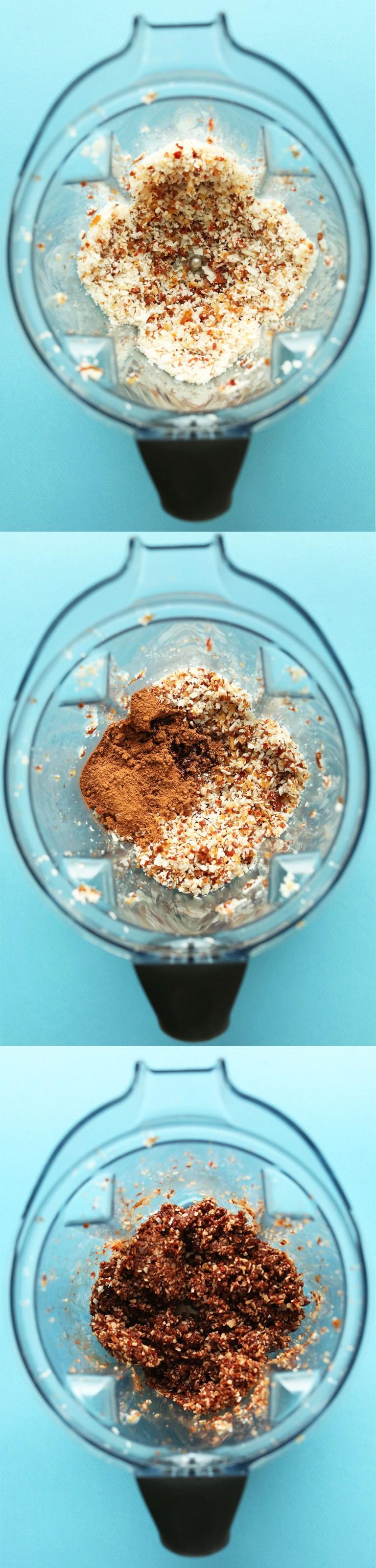 Большие сыроедческие шоколадные макаруны