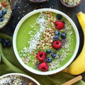 Суперзеленый смузи в тарелке (смузи-боул) 01