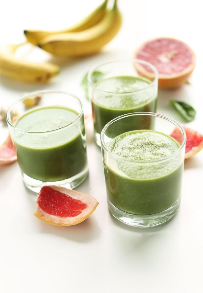 Зеленый смузи из грейпфрута