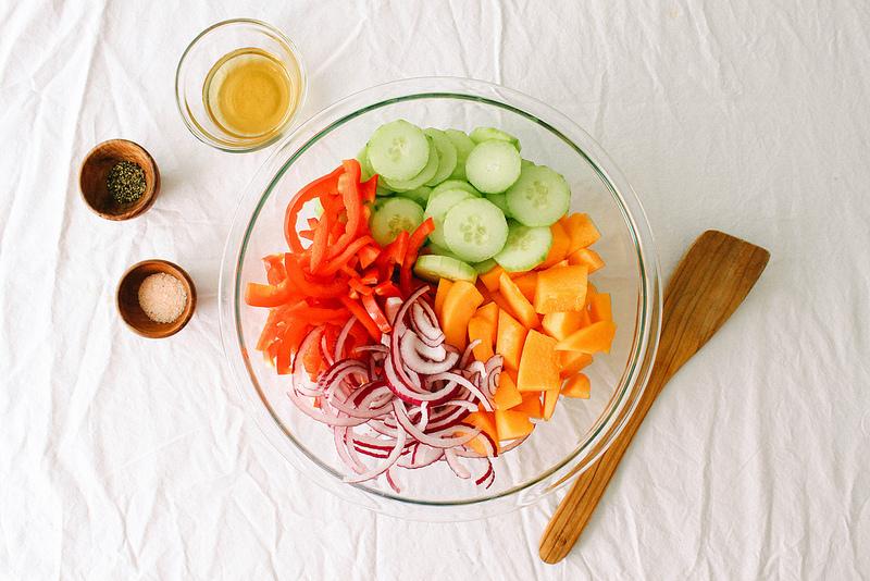 Салат из Огурцов и Мускусной Дыни