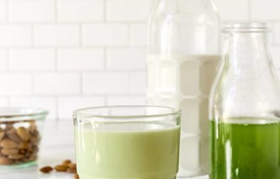 Зеленое Миндальное Молоко