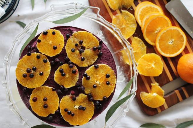 Апельсиново-Черничный Торт-Суфле