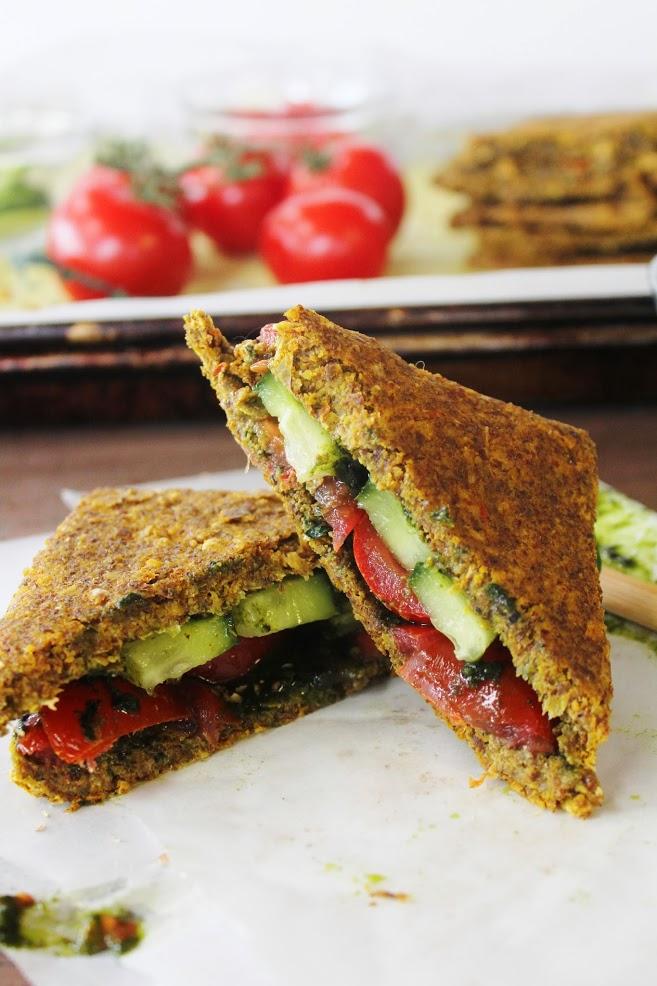 Луково-Кукурузный Сэндвич с Помидорами и Огурцом