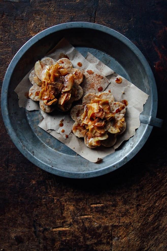 Миндальное Печенье с Яблочными Ломтиками