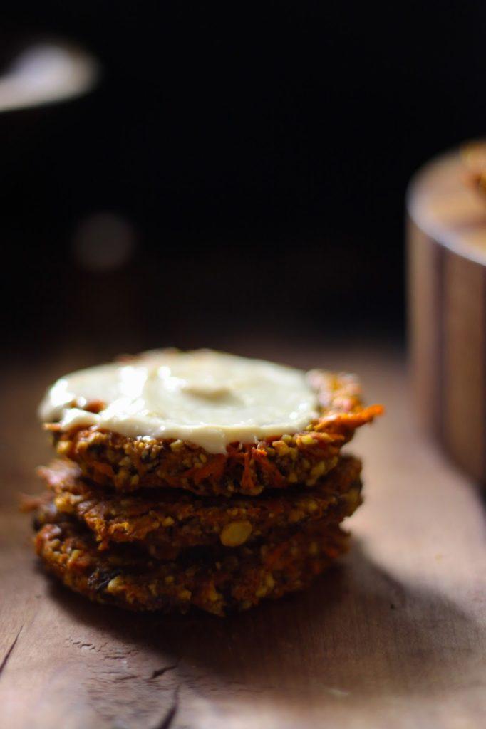 Морковное Печенье с Кремом из Кешью