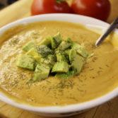 Сладкий Суп из Кукурузы, Чеснока и Томатов