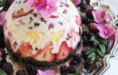 Кокосовый Торт-Мороженое с Фруктами