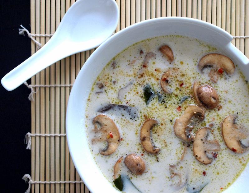 Кремовый Суп с Грибами и Водорослями