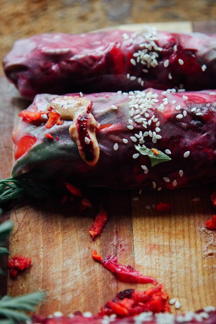 Летние Роллы с Овощами под Соусом Чили