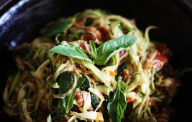 Спагетти из Цукини с Вялеными Томатами и Базиликом
