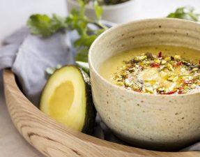 Суп из Авокадо с Лаймом