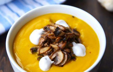 Крем-Суп из Мускатной Тыквы с Грибами