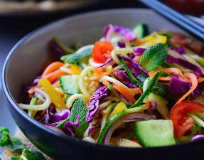Салат из Овощной Лапши
