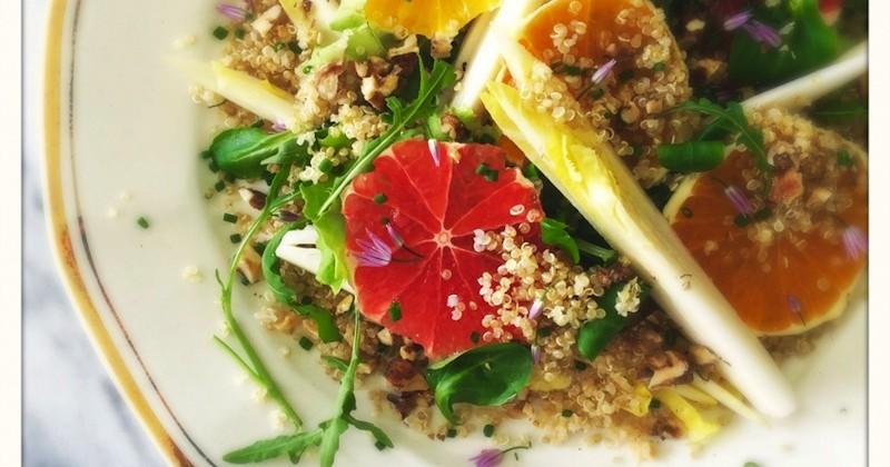 Салат из Цикория с Апельсином и Грецкими Орехами