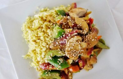«Жареные» Овощи с Рисом из Сельдерея