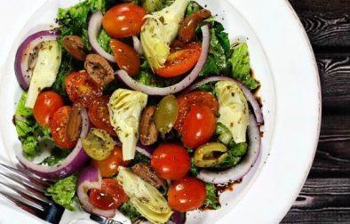 Греческий Салат с Артишоками