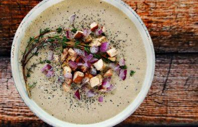 Грибной Суп с Кедровыми Орехами