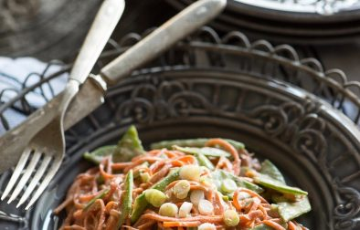 Сыроедческая Морковная Паста с Ореховым Соусом