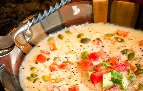 Сыроедческий Кукурузный Суп с Семенами Тыквы