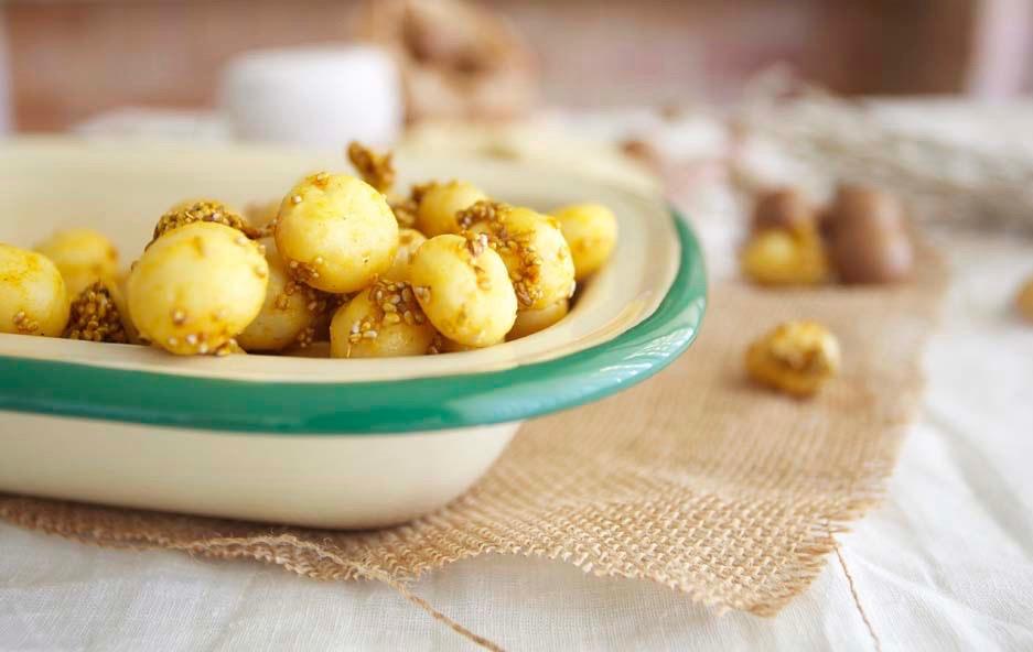 Сыроедческий Попкорн из Пряных Орехов