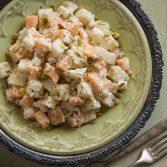Сыроедческий Салат из Дыни и Джикамы