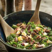 Сыроедческий Салат из Кале и Яблок без Масла