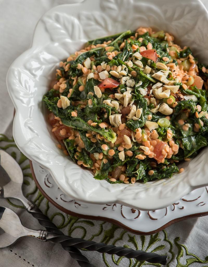 Сыроедческий Салат из Пророщенной Чечевицы