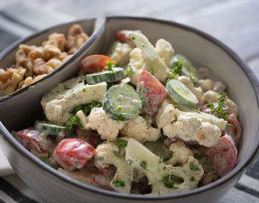 Сыроедческий Салат из Цветной Капусты