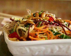 Сыроедческий Спагетти-Боул из Овощей