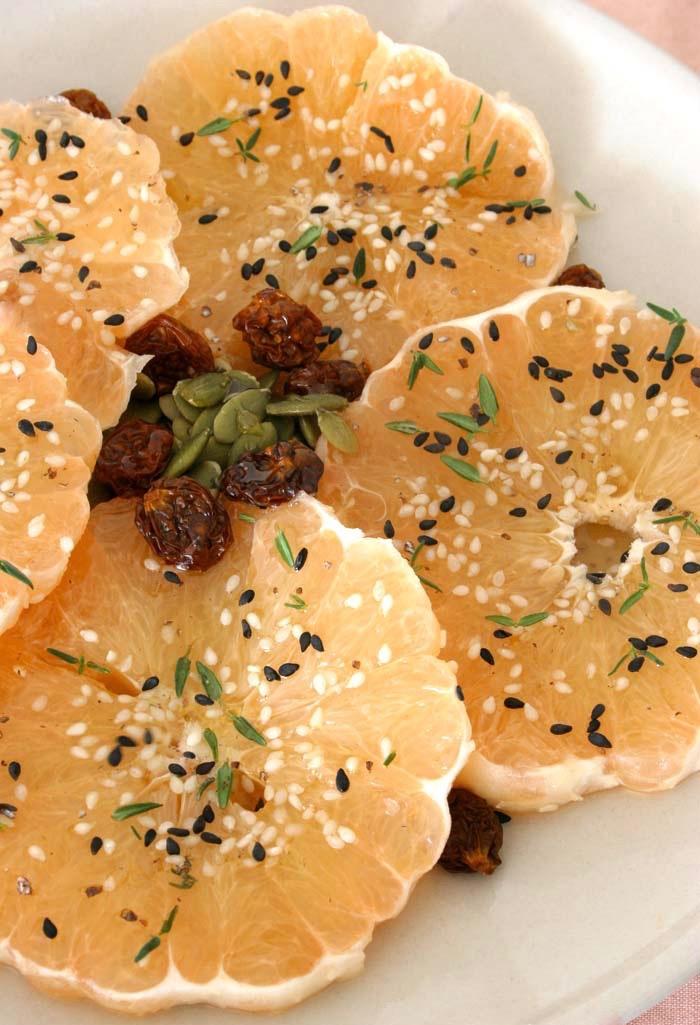 Сыроедческий Грейпфрутовый Салат с Кардамонной Заправкой