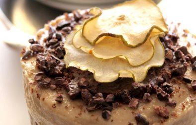 Сыроедческий Карамельно-Персиковый Торт