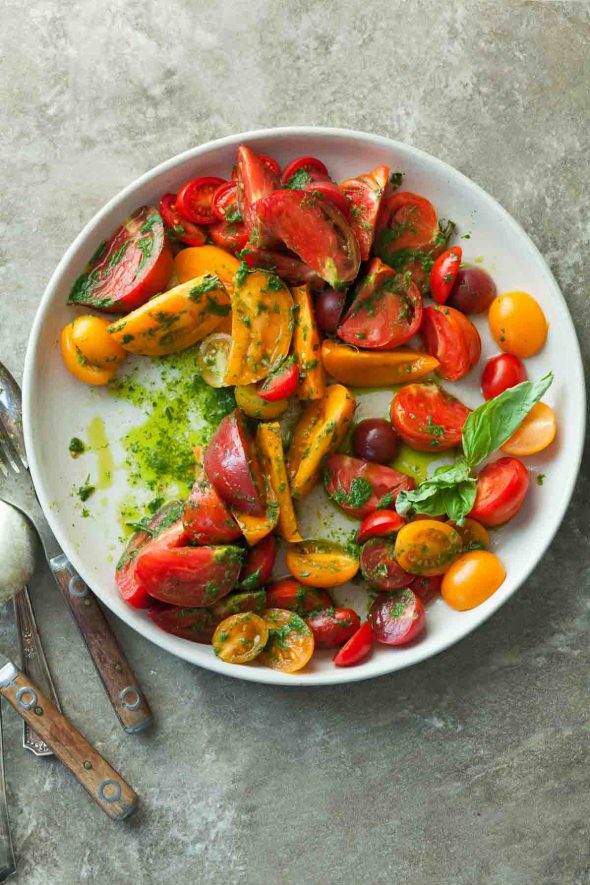 Сыроедческий Салат из «Фамильных» Помидоров