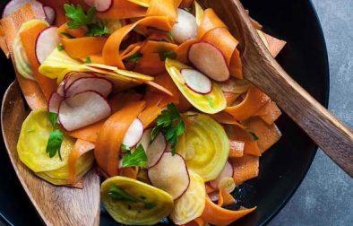 Сыроедческий Салат из Свеклы, Моркови и Редиса