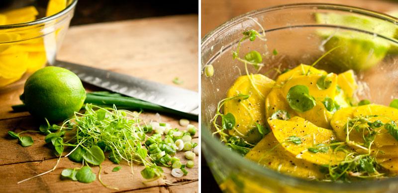 Сыроедческий Салат из Желтой Свеклы
