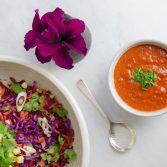 Сыроедческий Салат с Заправкой из Ягод Годжи