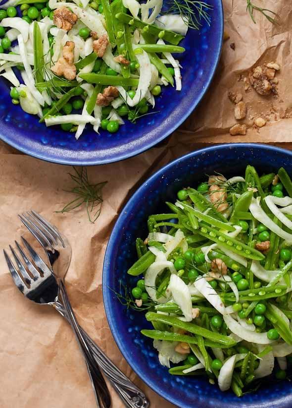 Сыроедческий Салат из Двух Видов Горошка