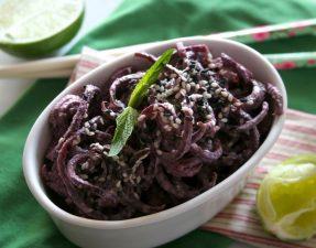 Сыроедческий Салат из Фиолетовой Моркови