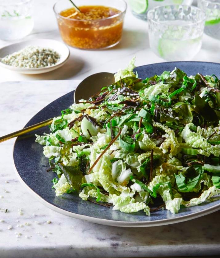 Сыроедческий Салат из Капусты и Водорослей