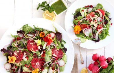 Сыроедческий Салат с Красными Апельсинами