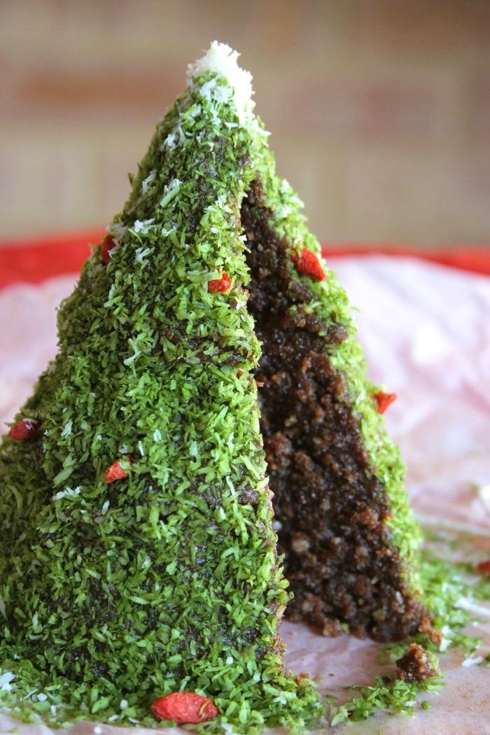 Сыроедческий Новогодний Шоколадный Торт