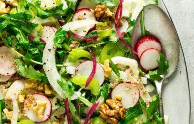 Сыроедческий Салат из Фенхеля с Ореховой Заправкой