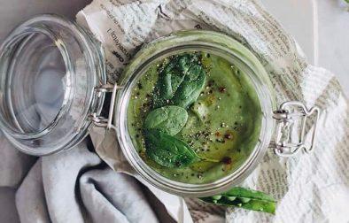 Сыроедческий Гороховый Суп на Кокосовой Воде
