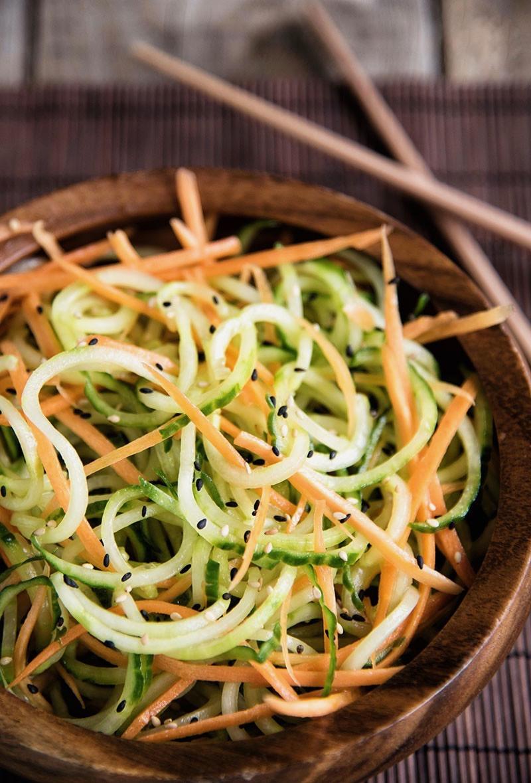 Сыроедческий Морковно-Огуречный Салат