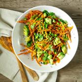 Сыроедческий Морковный Салат с Имбирно-Цитрусовой Заправкой