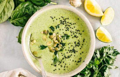 Сыроедческий Шпинатный Суп