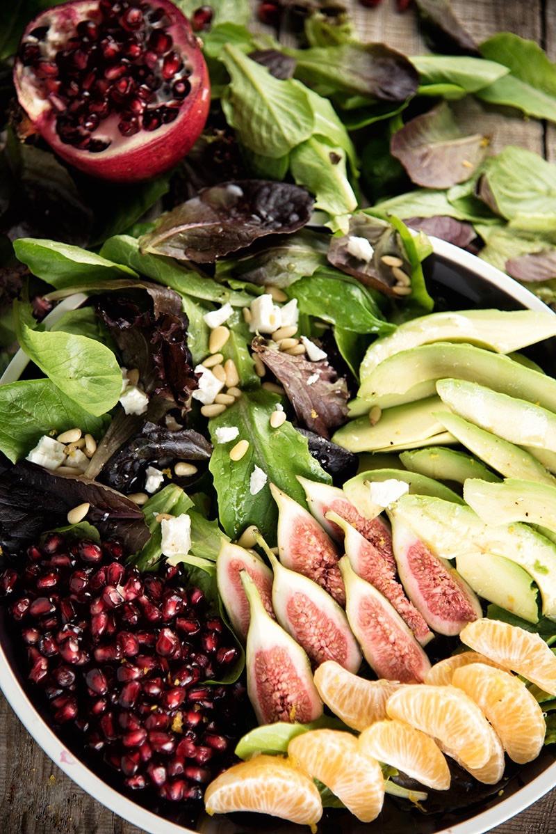 Сыроедческий Салат из Инжира и Граната
