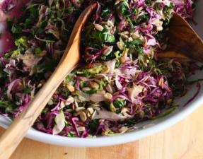 Сыроедческий Капустный Салат с Грушами