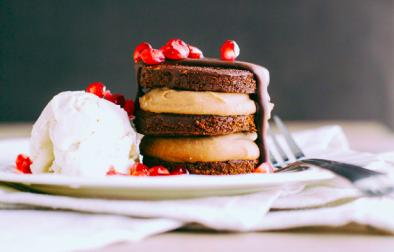Сыроедческий Мини-Торт из Печенья и Мусса