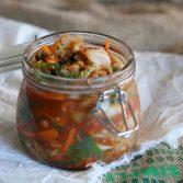 Сыроедческое Кимчи с Имбирем и Чесноком