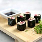 Сыроедческие Суши с Пастой из Семян Подсолнечника